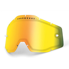 100% Vented Dual Replacement Lenses, gold / mirror